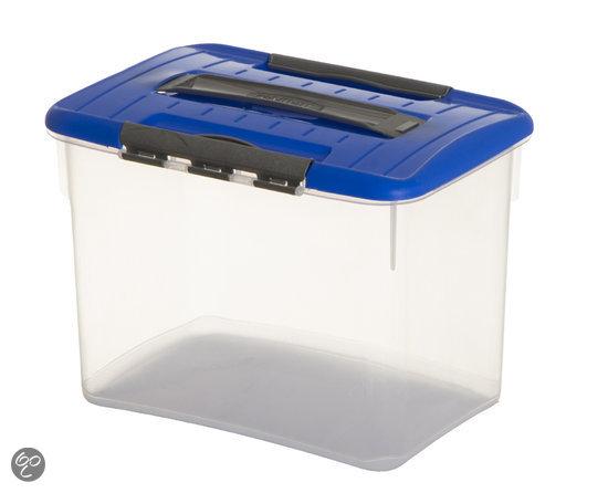 Curver Optima Opbergbox - 8 l - Kunststof - Transparant / Blauw