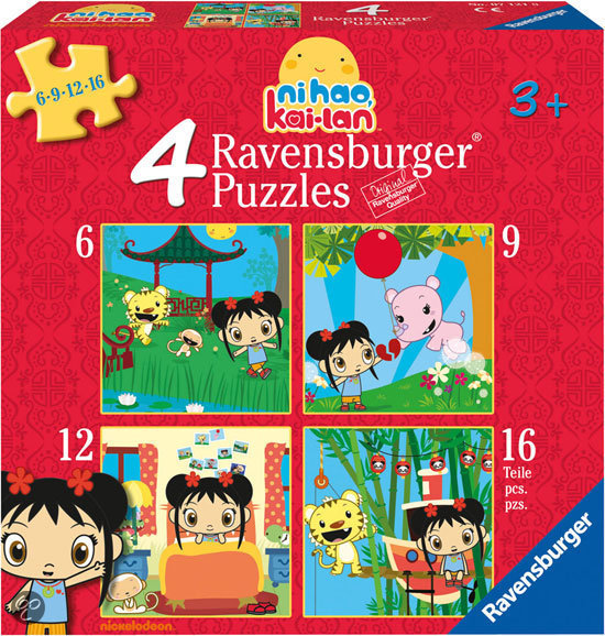 Ravensburger Puzzel Ni Hao Kai-Lan: 4 In 1