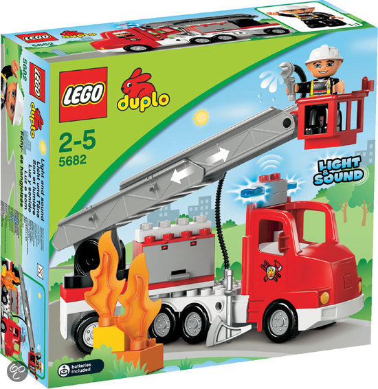 lego duplo brandweerwagen 5682 lego speelgoed. Black Bedroom Furniture Sets. Home Design Ideas