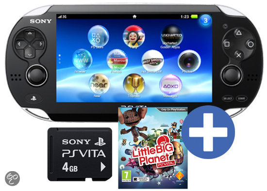 Sony PlayStation Vita Wifi + LittleBigPlanet Voucher + 4GB Memory Card Zwart
