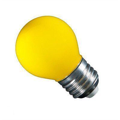kogellamp led deco 1 watt e27 45mm geel oranje. Black Bedroom Furniture Sets. Home Design Ideas