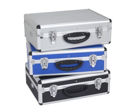 varo prm10102b aluminium koffer lichtgewicht schouderriem meegeleverd blauw. Black Bedroom Furniture Sets. Home Design Ideas