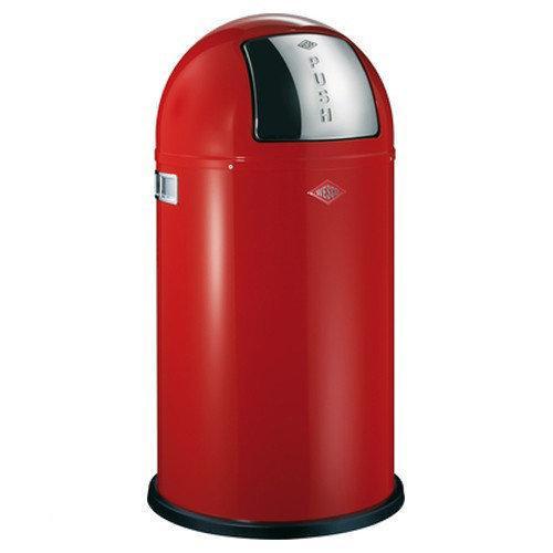 Afvalbak Keuken 50 Liter : bol.com Wesco Pushboy Prullenbak – 50 l – Rood Koken en tafelen