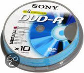 Sony DVD-R 120min/4,7GB 16x 10 stuks op spindel