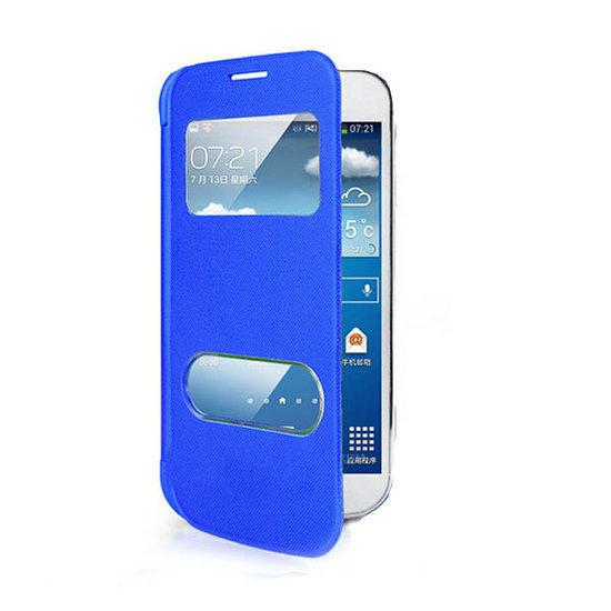 samsung galaxy s5 flip wallet case hoes blauw blue. Black Bedroom Furniture Sets. Home Design Ideas