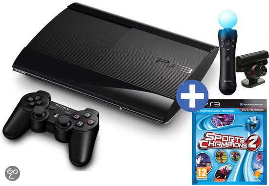 Sony PlayStation 3 12GB Super Slim + Sony PlayStation Move Starterpack + Sports Champions 2