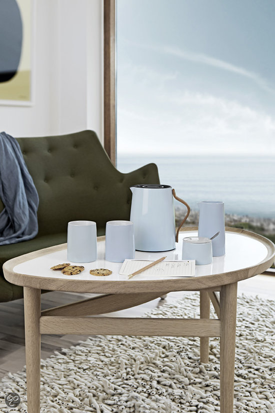 stelton emma koffiekan 1 2 liter blauw koken en tafelen. Black Bedroom Furniture Sets. Home Design Ideas