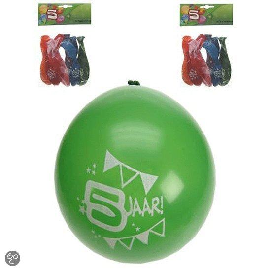 8x ballonnen 5 jaar in Rienne