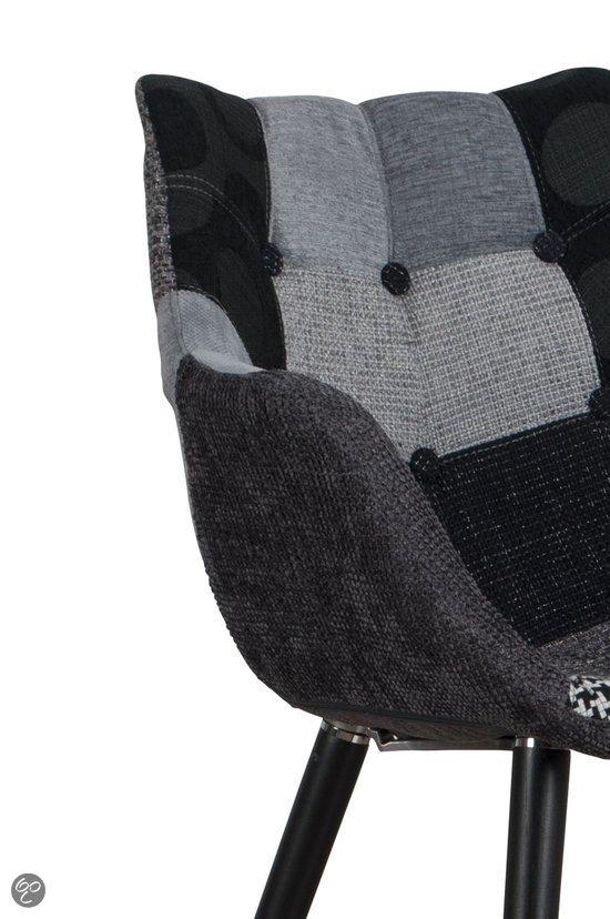 Zuiver stoel eleven patchwork grijs set van 2 for Stoel eleven