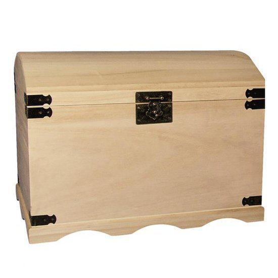 houten kist 44 8 cm. Black Bedroom Furniture Sets. Home Design Ideas
