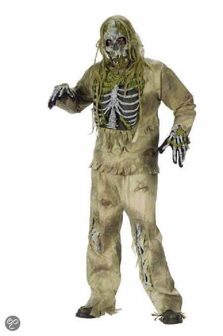 Skelet zombie halloween horror outfit in Meers