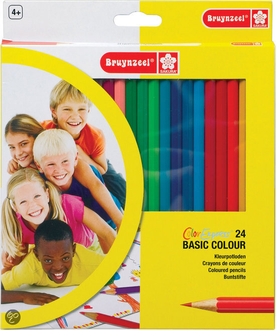 Bruynzeel Basic Color Set 24 Kleurpotloden