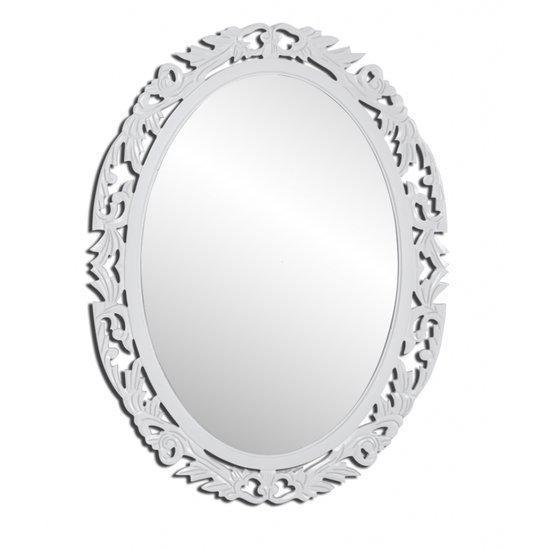 Vidaxl spiegel spiegel barok ovaal wit for Barok spiegel