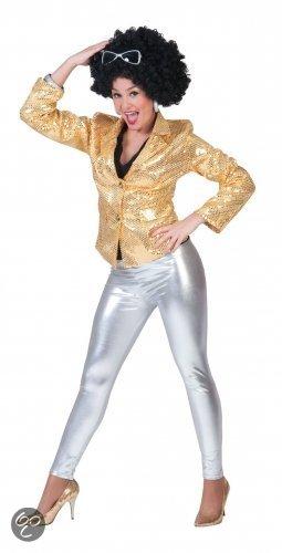 Glimmende zilveren legging voor dames in Awirs