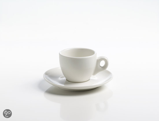 Maxwell & Williams White Basics Round Espressokop met Schotel - 0.08 l
