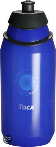 Tacx Source - Bidon - 500 ml - Transparant Blauw in Spekt