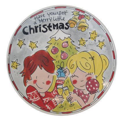 Blond Amsterdam Gebakbordje Kerst - 2 Stuks - Grijs