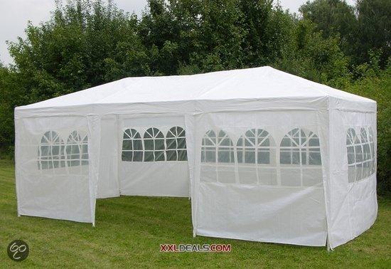 xxldeals partytent 3 x 6 meter model ii wit tuin. Black Bedroom Furniture Sets. Home Design Ideas