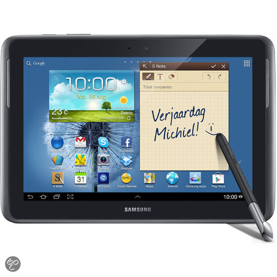Samsung Galaxy Note 10.1 (N8000) - WiFi en 3G - 16GB - Grijs