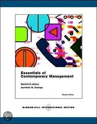 essentials of contemporary management This textbook and accompanying website are out of print please check with your instructor or mcgraw-hill learning technology representative on the availability of current editions.