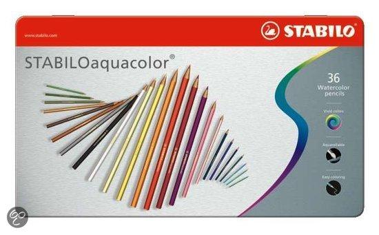 STABILO Aquacolor Metaal Etui - 36 stuks