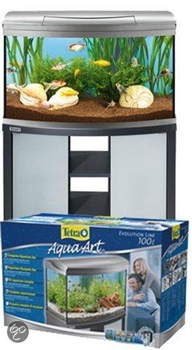 tetra aqua art aquarium 100 liter zilver. Black Bedroom Furniture Sets. Home Design Ideas