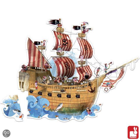 Janod Vloerpuzzel - Piratenschip in La Hulpe