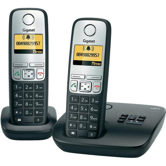 Gigaset A400A - Duo DECT telefoon met antwoordapparaat - Zwart