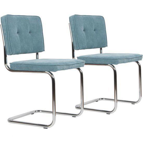 Eetkamer eetkamerstoelen set van 6 : ... .com : Retro Classic Rib - Eetkamerstoel - blauw - Set van 2 : Wonen