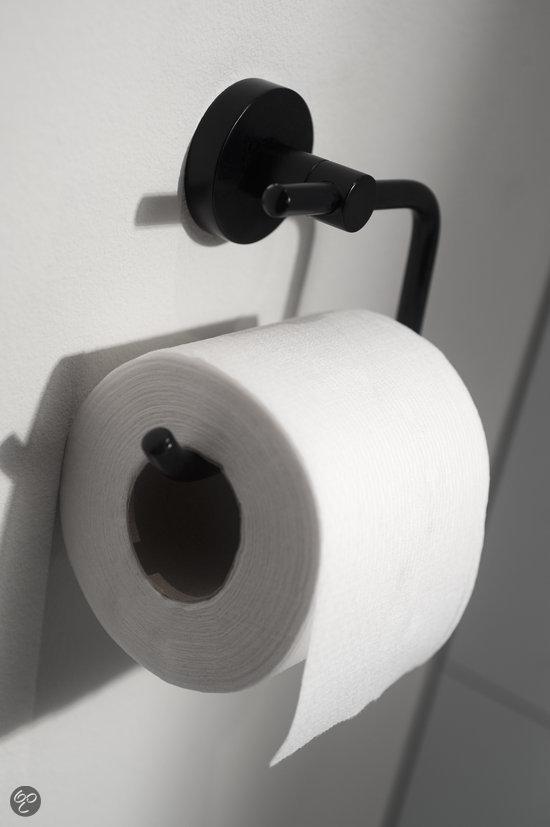 Haceka kosmos zwart toiletrolhouder klussen - Wc zwart wit ...