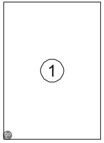 Benza Zelfklevende Etiketten, Stickers A4 Vel - 210 x 297 mm (1 sticker per vel) - 100 vel
