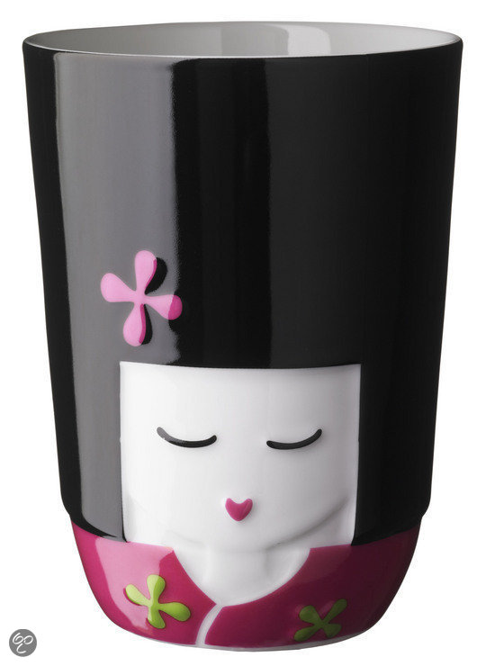 QDO 3D Thermo Kop 'Kokeshi' - Roze