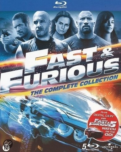 Fast & Furious 1 t/m 5 (Blu-ray)