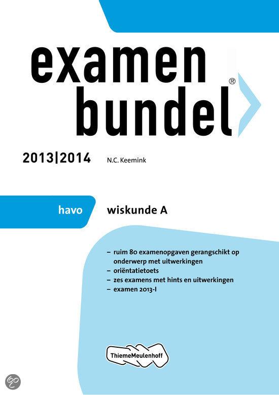 Examenbundel  / 2013/2014 havo wiskunde A