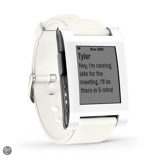 Pebble smartwatch - Wit