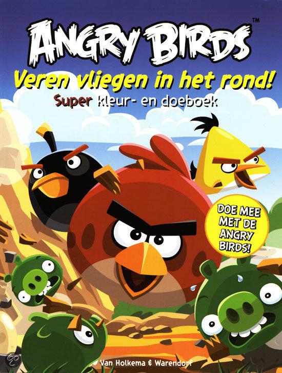 Angry birds - veren vliegen in het rond