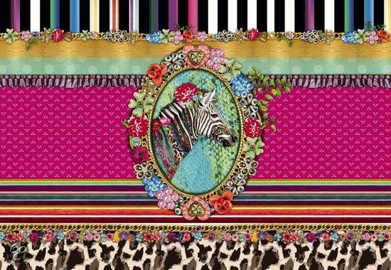Komar behang melli mello zebra fotobehang - Behang zebra ...
