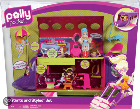 Polly Pocket Stunts 'n Styles Jet
