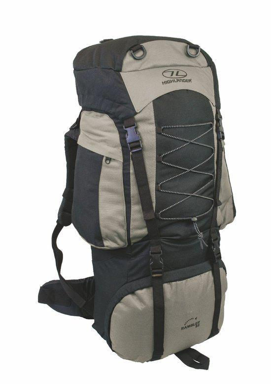 Highlander Rambler - Backpack - 66 Liter - Grijs Zwart in Dongelberg