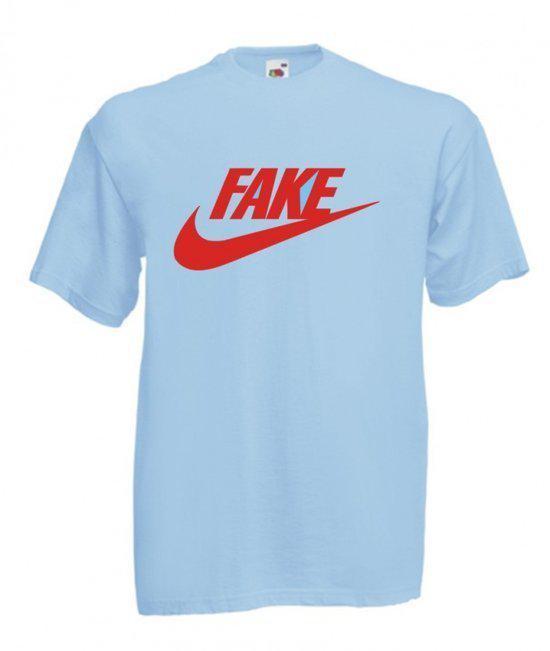 Mijncadeautje Heren Persiflage  T-shirt blauw maat S Fake in Gonrieux