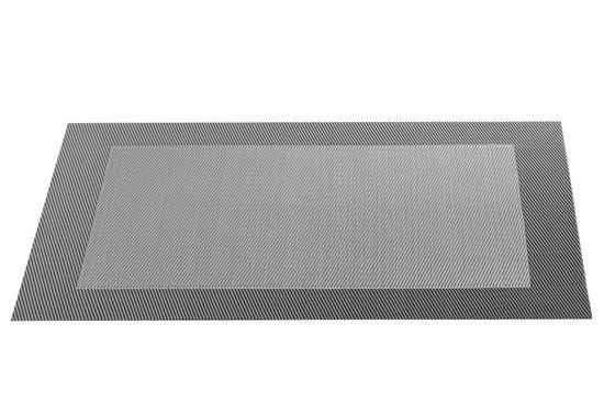 ASA Selection Geweven Rand Placemat -  33 x 46 cm - Grijs
