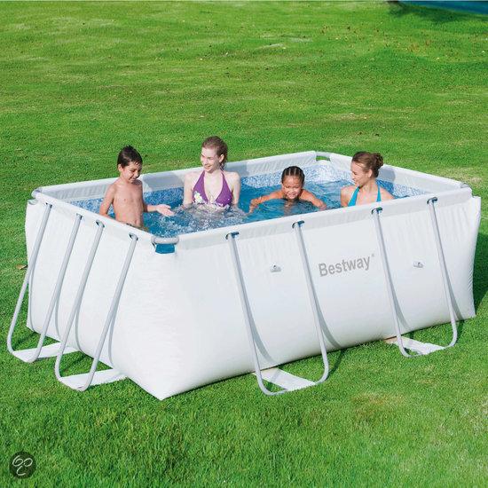Bestway frame zwembad met filterpomp for Zwembad afmetingen