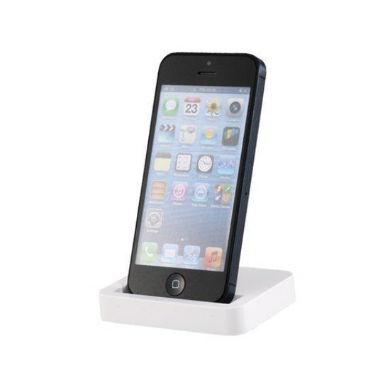 docking station voor de iphone 5 5c 5s wit. Black Bedroom Furniture Sets. Home Design Ideas