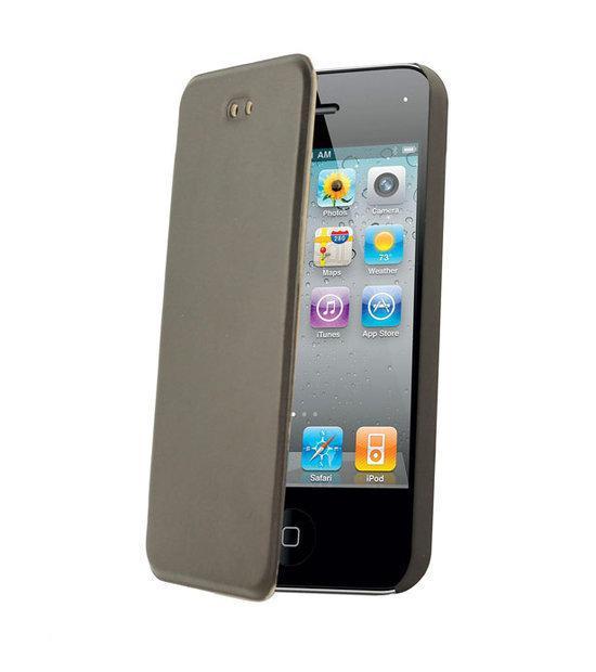 ... Charger Folio Slim Case / Cover van zwart PU leer voor de iPhone 4