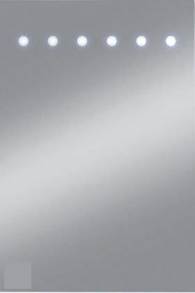 plieger spiegel met ge ntegreerde led verlichting 40x60 cm wonen. Black Bedroom Furniture Sets. Home Design Ideas
