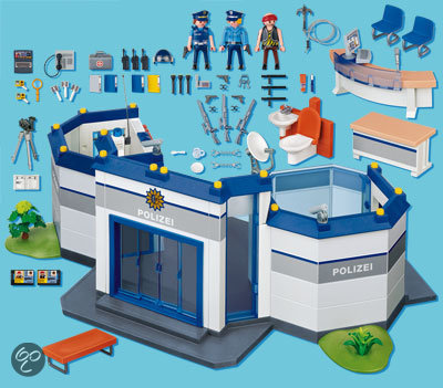 playmobil politie bureau 4263 playmobil. Black Bedroom Furniture Sets. Home Design Ideas