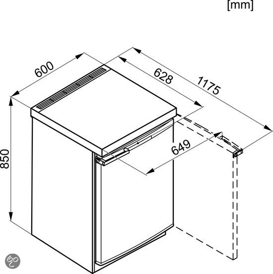 miele tafelmodel vrieskast f 12020 s 2 elektronica. Black Bedroom Furniture Sets. Home Design Ideas