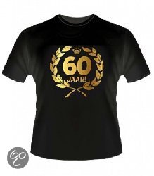Gouden Krans T-Shirt - 60 jaar (maat xl) in Alteveer