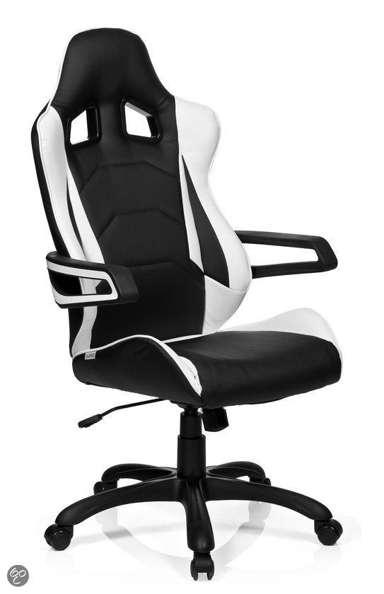 Bs24 racer pro bureaustoel zwart wonen for Bureau stoel