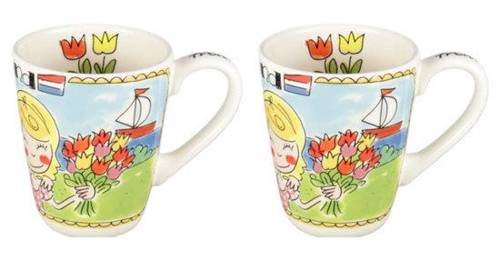 Blond Amsterdam - Beker - Boten - 'Love Holland' - set van 2
